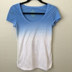 American Eagle Blue Ombré Shirt